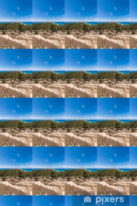 Tapeta na wymiar winylowa Widok z lotu ptaka na wyspie Formentera horyzontu ibiza hiszpania śródziemnego - Wakacje