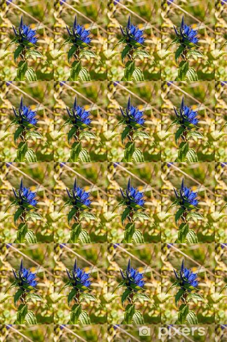 Papier peint vinyle sur mesure Fleurs bleues Meadow - Sports d'extérieur