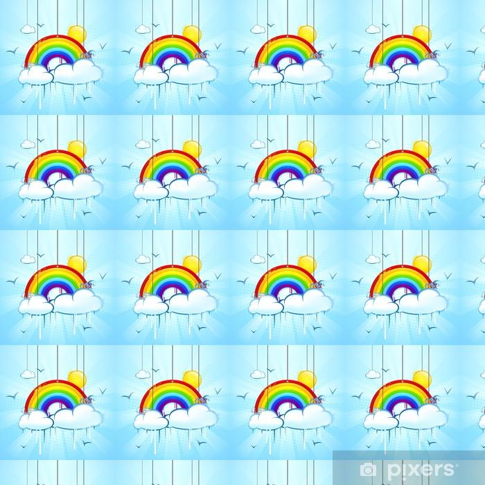 Tapeta na wymiar winylowa Rainbow niebo z chmurami i słońcem - Niebo