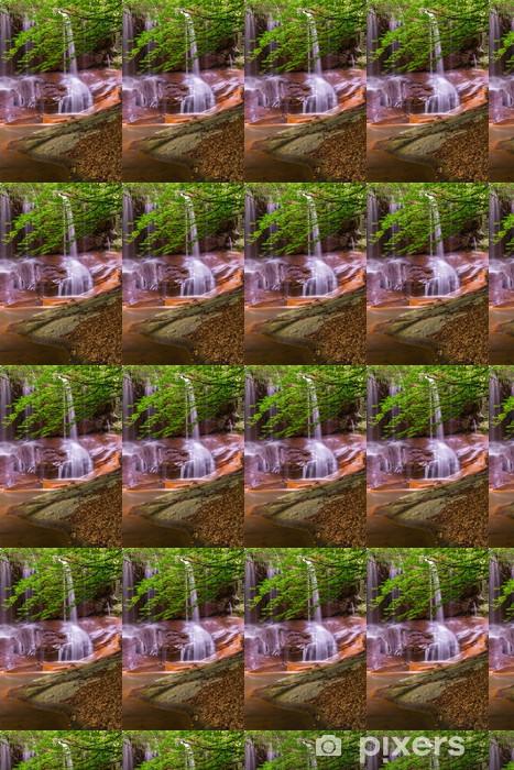 Vinyltapete nach Maß Wasserfall mit Greens - Themen