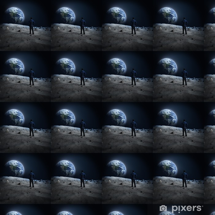 Vinyl behang, op maat gemaakt Aarde maan Alien - Ruimte