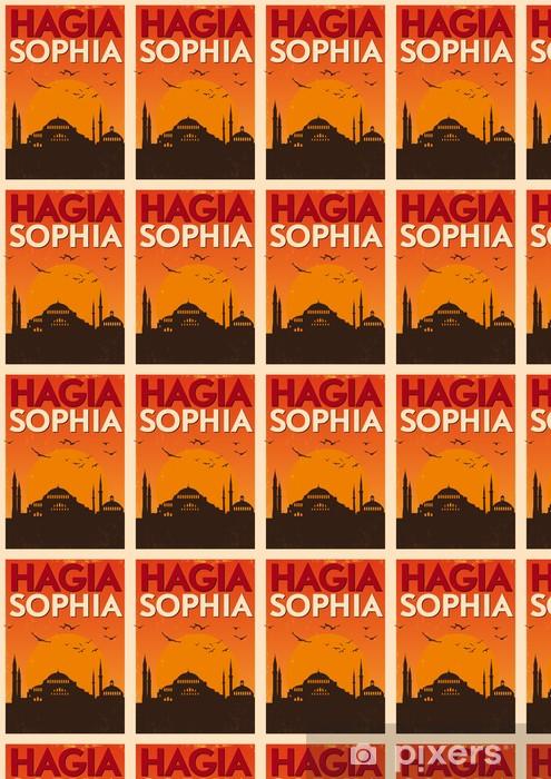 Papier peint vinyle sur mesure Vintage Hagia Sophia affiche - Moyen Orient
