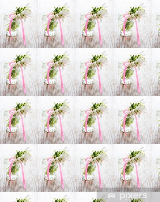 Vinyltapete nach Maß Bouquet von Schneeglöckchen Blüten - Jahreszeiten