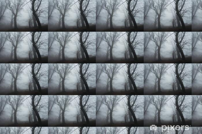 Vinyl behang, op maat gemaakt Mistige bos - Seizoenen