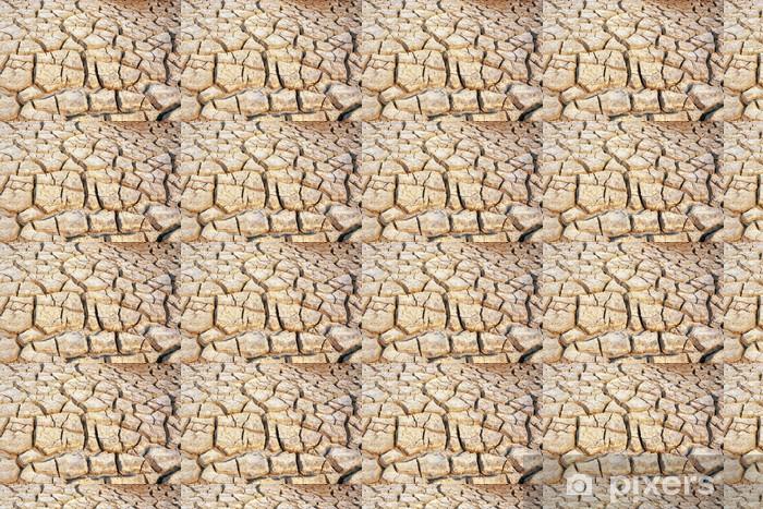 Papier peint vinyle sur mesure La terre sèche et aride - Textures