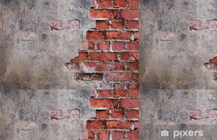 Papier Peint à Motifs Vinyle Mur de la vieille maison délabrée - Thèmes