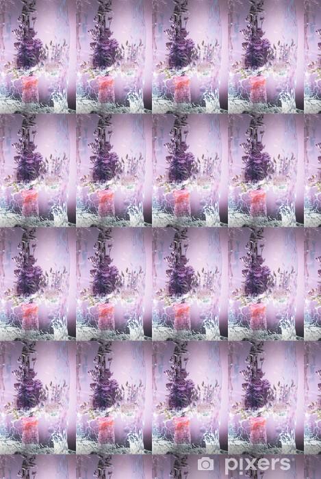 Papier peint vinyle sur mesure Groupe lumineux dans la composition glacée - Plantes