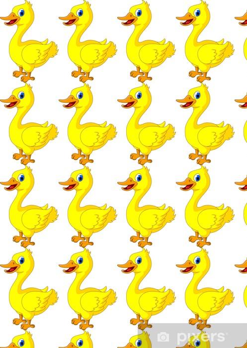 Tapeta na wymiar winylowa Cartoon szczęśliwy żółty piskląt - Ptaki
