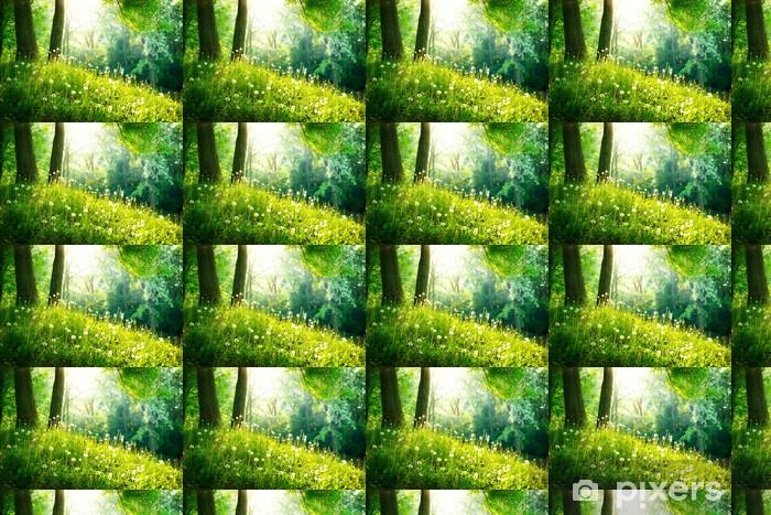 Tapeta na wymiar winylowa Charakter wiosny. piękny krajobraz. zielona trawa i drzew - Przeznaczenia