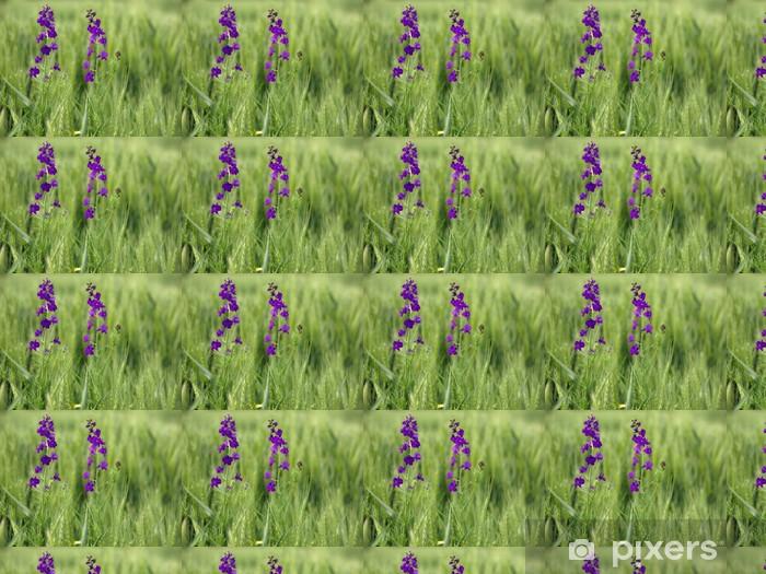 Papier peint vinyle sur mesure Image d'un champ de fleurs printanières - Fleurs