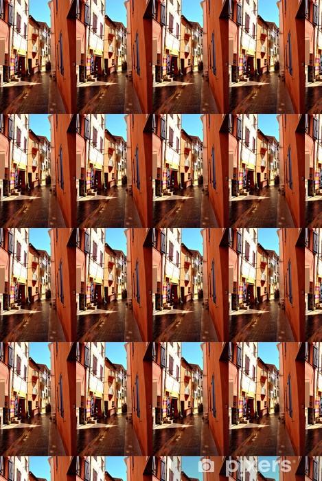 Vinyl behang, op maat gemaakt Verkeersvrije straat - Europa