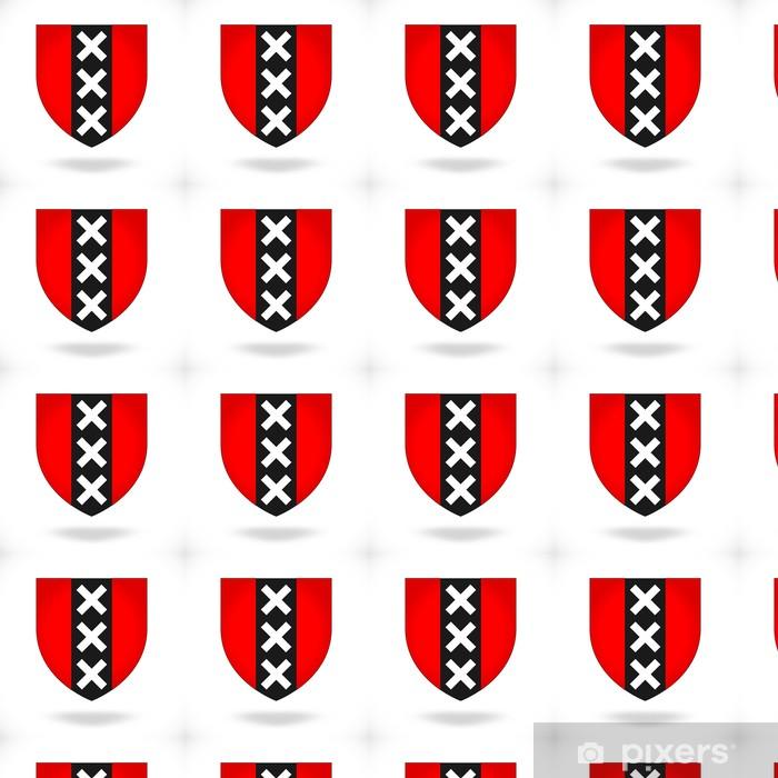 Papel pintado estándar a medida Escudo de armas de Amsterdam - Holanda - Ciudades europeas