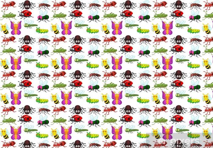 Vinyl behang, op maat gemaakt Insect cartoon collectie set - Andere Andere