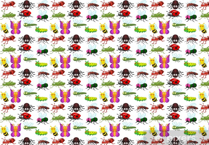 Insect cartoon collection set Vinyl custom-made wallpaper - Other Other
