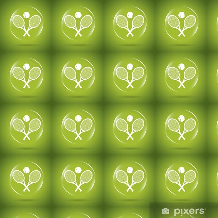 Papier peint vinyle sur mesure Tennis icône bulle - Articles de sport