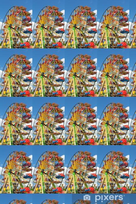 Vinylová tapeta na míru Detail panoramatickým kola v zábavním parku - Zábava