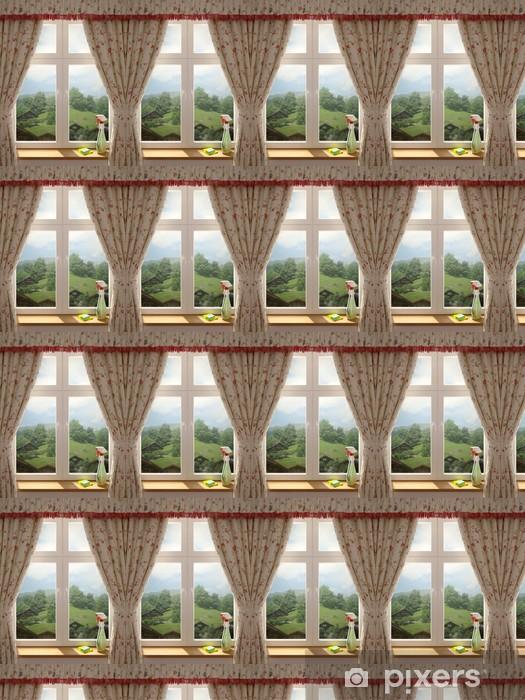 Vinyl behang, op maat gemaakt Glazenwassen - Muursticker