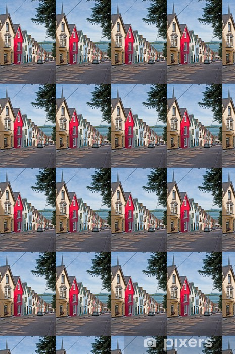 Papier peint vinyle sur mesure Maisons Cobh - Maisons et jardins