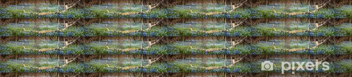 Vinylová tapeta na míru Koberec modrými květy v lese na jaře - Venkov