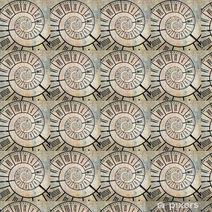 Tapeta na wymiar winylowa Horloge fundusz rocznika, spiralne - Znaki i symbole