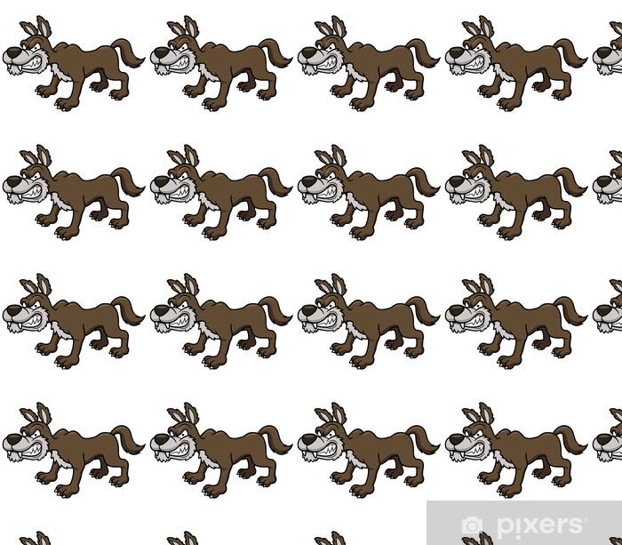 Vector illustration of Wolf cartoon Vinyl custom-made wallpaper - Mammals
