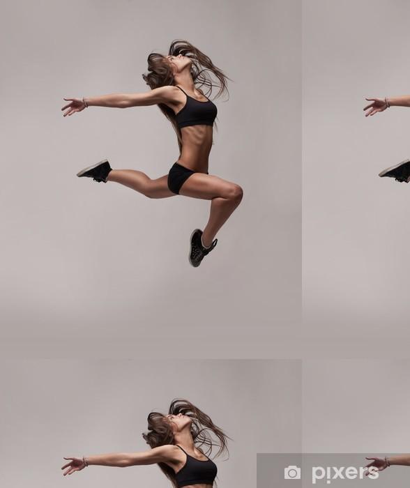 Vinylová Tapeta Kavkazský fitness ženy na lyžích - Témata