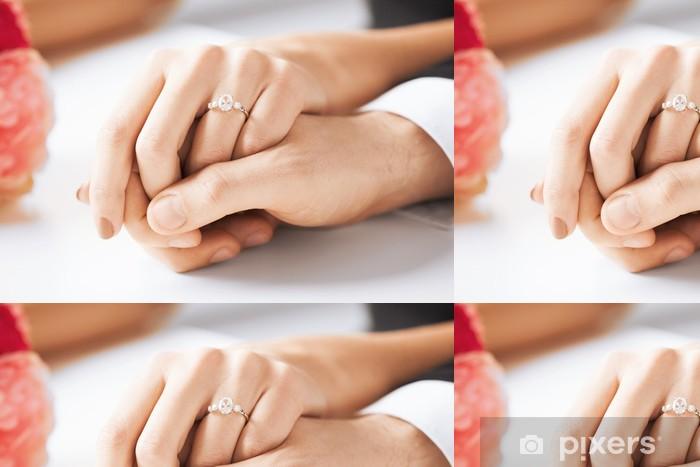 Vinylová Tapeta Muž a žena s snubní prsten - Osud