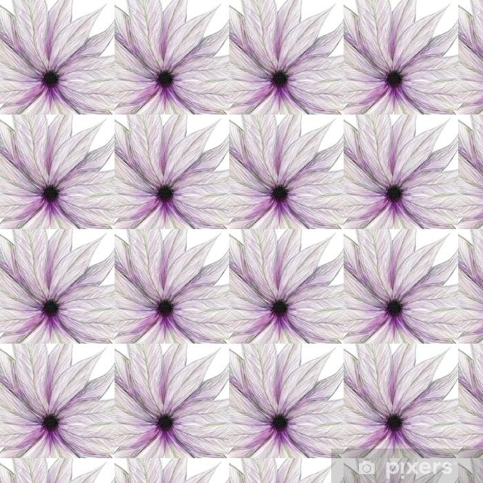 painted flower pink Vinyl Custom-made Wallpaper - Backgrounds