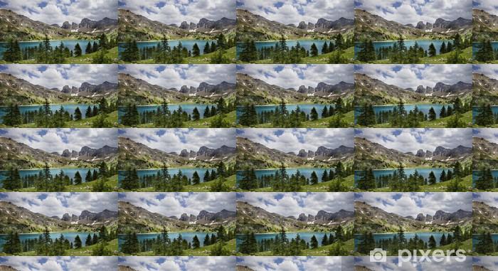 Papier peint vinyle sur mesure Photo du Lac d'Allos. Rence Alpes-de-Haute-Prov en France. - Sports d'extérieur