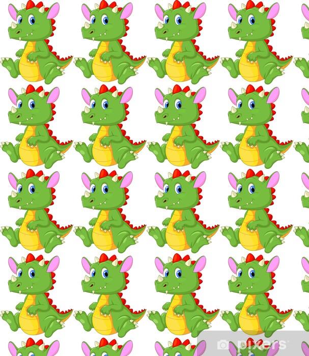 Vinyltapete nach Maß Cute Baby Drachen Cartoon - Wandtattoo