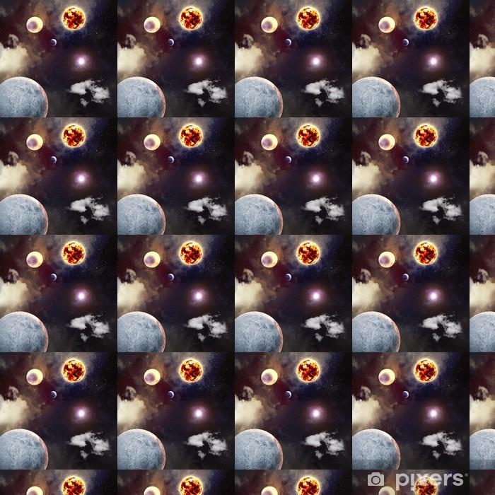 Vinyltapete nach Maß Bild von Planeten im Weltraum - Universum