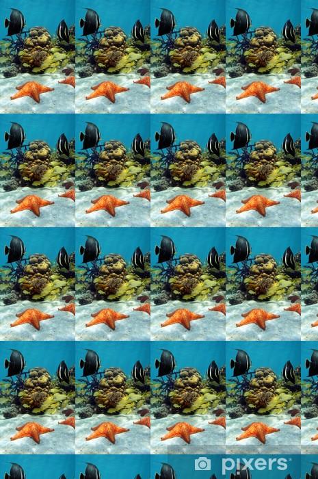 Carta da parati in vinile su misura Colorata vita marina subacquea in una barriera corallina - Sottomarino