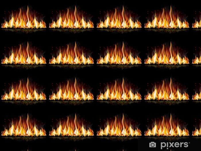 Papier peint vinyle sur mesure Flamme brûlante - Catastrophes naturelles