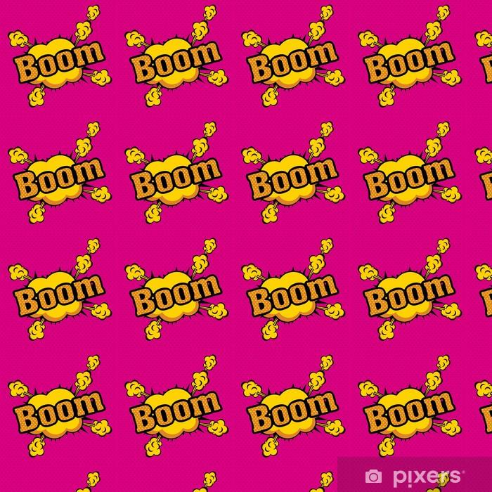 Tapeta na wymiar winylowa Boom komiks ikony - Inne przedmioty