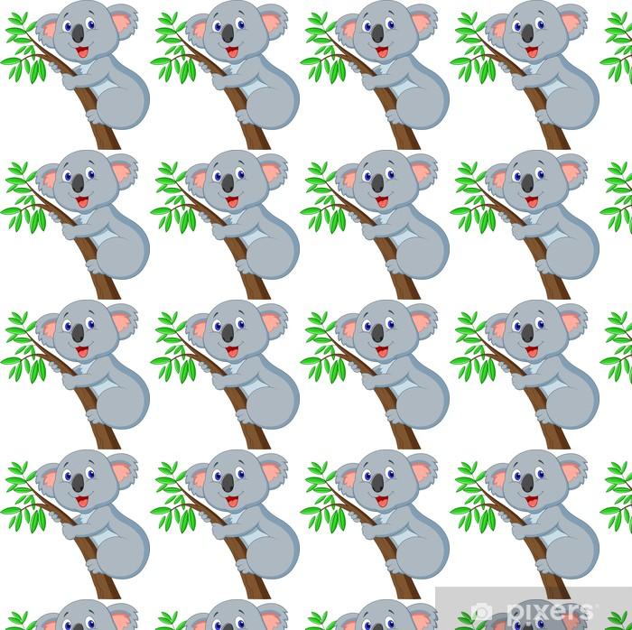 Vinyl behang, op maat gemaakt Schattige koala cartoon - Muursticker