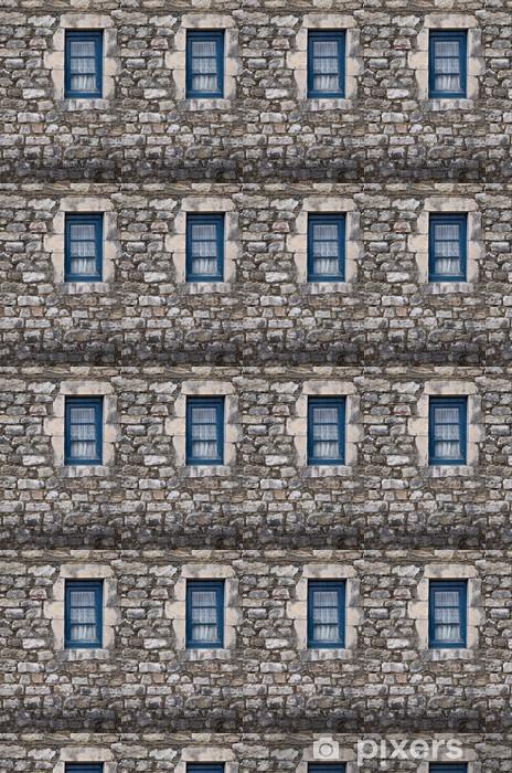 Papier peint vinyle sur mesure Vieux mur de pierre et la fenêtre - Europe