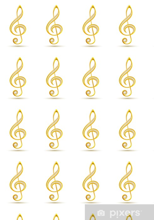 Tapeta na wymiar winylowa Złoty klucz wiolinowy z diamentami - Muzyka