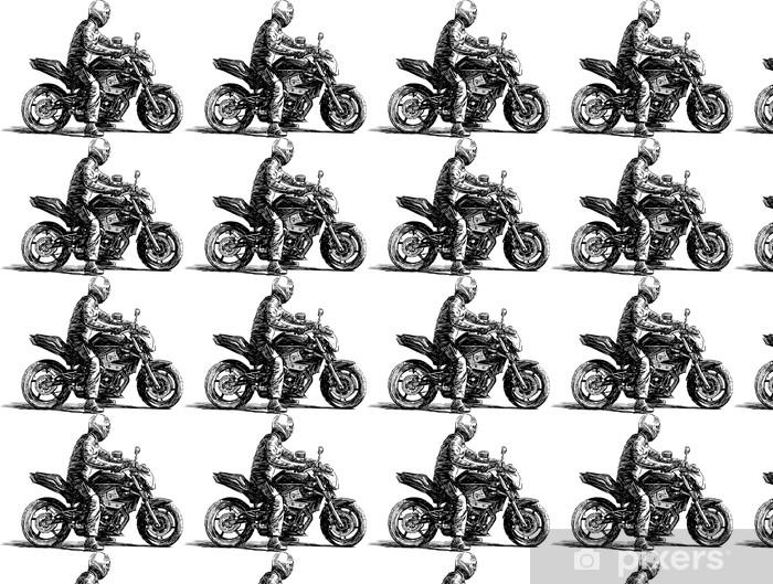 Vinylová tapeta na míru Muž na motorce - Na cestě