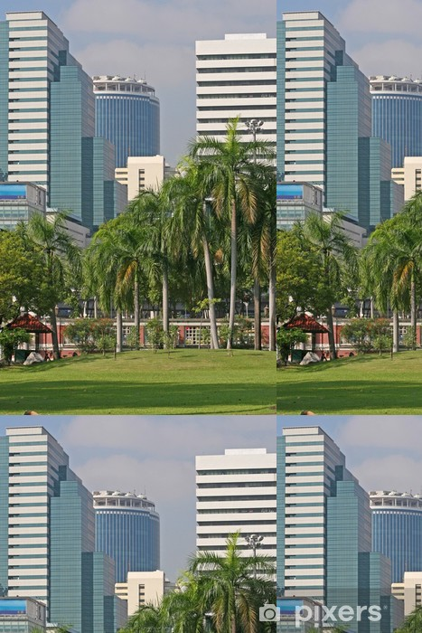 Tropical City Park Vinyl Wallpaper - Asia