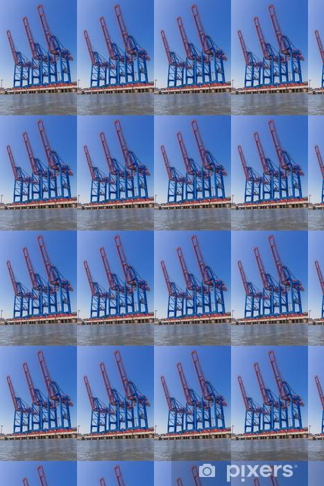 Papier peint vinyle sur mesure Containerkräne für Frachtschiffverladung - Industrie lourde