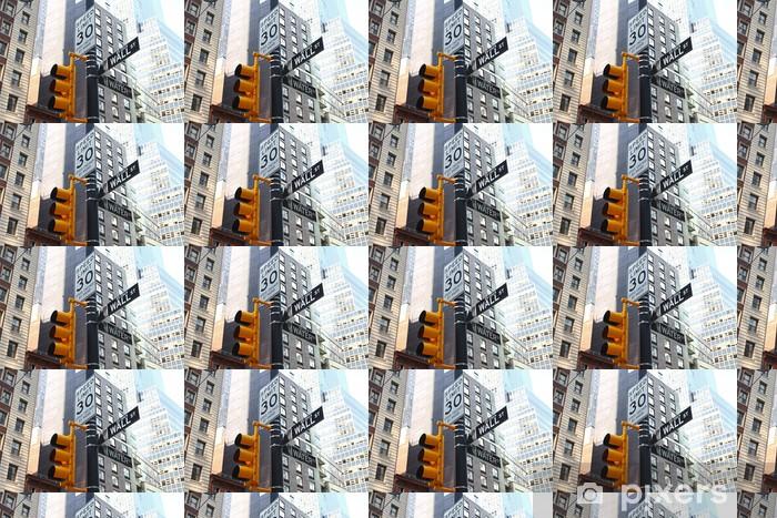 Papier peint vinyle sur mesure Wall Street signe - Villes américaines
