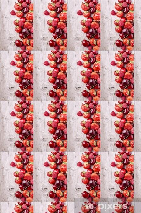 Vinylová tapeta na míru Červené ovoce - Témata