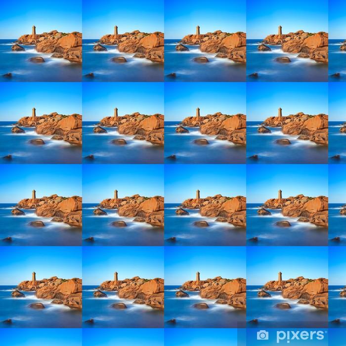 Vinylová tapeta na míru Ploumanach maják západ slunce na žulové pobřeží, Bretaň, Francie. - Evropa