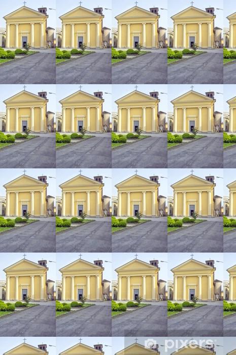 Papier peint vinyle sur mesure Image couleur église San Rocco externe Sartirana Lomellina - Bâtiments publics