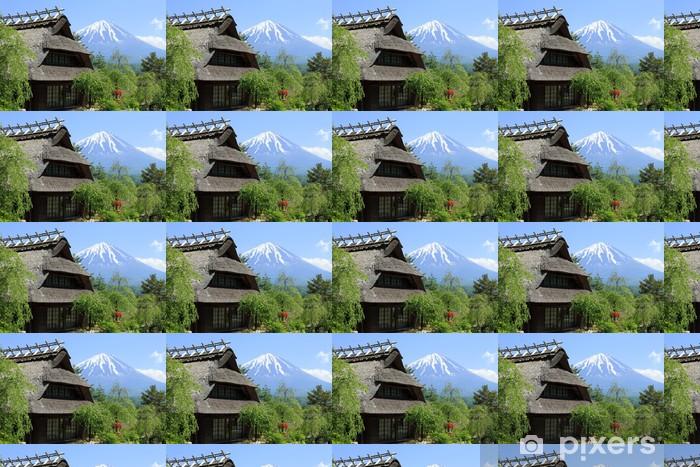 Papier peint vinyle sur mesure Mai Mont Fuji - Saisons