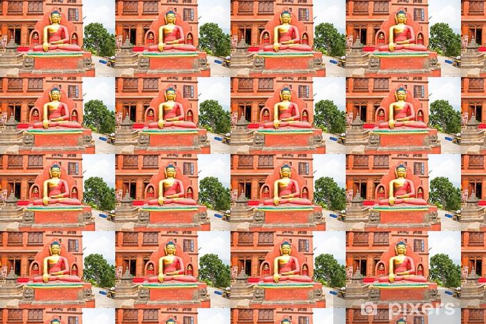 Tapeta na wymiar winylowa Budha statua w Swayambhunath świątyni, Katmandu, Nepal. - Azja