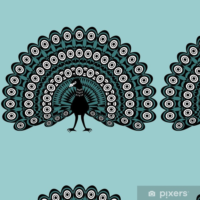 Vinylová Tapeta Ilustrace krásné páv - Ptáci