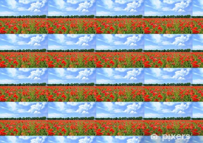 Poppy field Vinyl custom-made wallpaper - Themes