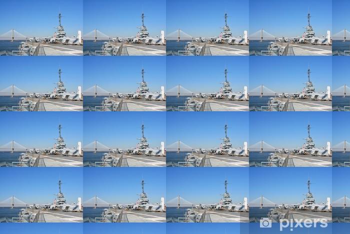 USS Yorktown Aircraft Carrier in Charleston, USA Vinyl custom-made wallpaper - America
