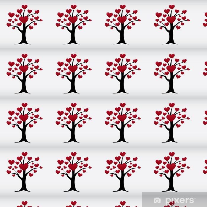 Tapeta na wymiar winylowa Wektor drzewo odizolowane miłość - Szczęście